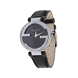 Gucci Interlocking YA133301 Stainless Steel & Black Dial 37mm Womens Watch