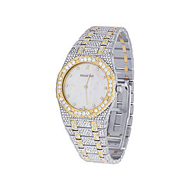 Audemars Piguet Royal Oak 56175SA 18K Yellow Gold & Stainless Steel with Diamond Quartz 33mm Womens Watch