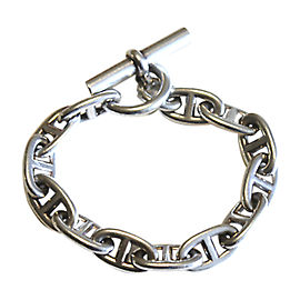 Hermes 925 Sterling Silver Chaine D'ancre Chain Link Toggle Bracelet