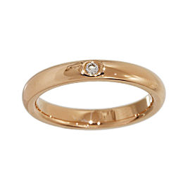 Tiffany & Co. Elsa Peretti 18K Rose Gold with 1P Diamond Ring Size 4.25