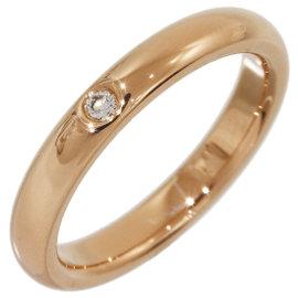 Tiffany & Co. Elsa Peretti 18K Rose Gold with 1P Diamond Ring Size 4.25