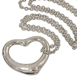 Tiffany & Co. Elsa Peretti Sterling Silver Open Heart Pendant Necklace