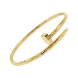 """Cartier Juste un Clou 18K Rose Gold """"Nail"""" Bracelet Size 18"""