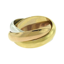 Cartier Trinity 18K Rose, White and Yellow Gold Classic Band Ring Size 5.25