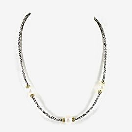 Lagos Micro Caviar Sterling Silver Pearl Necklace