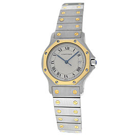 Cartier Santos Octagon 187902 30mm Womens Watch