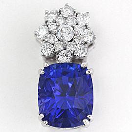18K White Gold Tanzanite Diamond Pendant