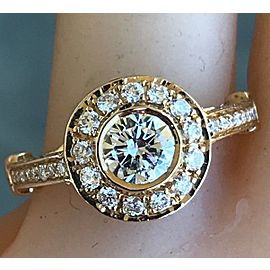 14K Yellow Gold Diamond Engagement Ring Size 6.5
