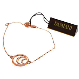 Damiani 20062782 18K Rose Gold Diamond Logo Bracelet