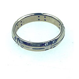 Tiffany & Co. 18K White Gold Diamond Wedding Ring Size 11