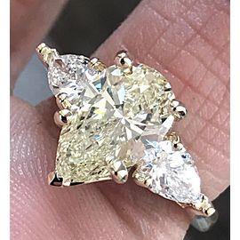 14K Yellow Gold Yellow Diamond Ring Size 7