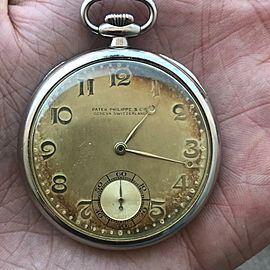 Patek Philippe 18K Yellow Gold Vintage 1933 45mm Mens Pocket Watch
