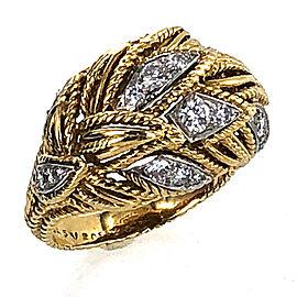 Van Cleef & Arpels 18k Yellow Gold Diamond Vintage Ring Size 7