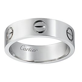 Cartier Love Ring Platinum Size 5.25