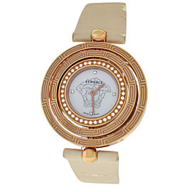 Versace EON 80Q81SD498 S009 Gold Tone Diamond Quartz 38MM MOP Watch