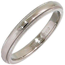 Tiffany & Co. Milgrain Platinum Ring Size 8.25
