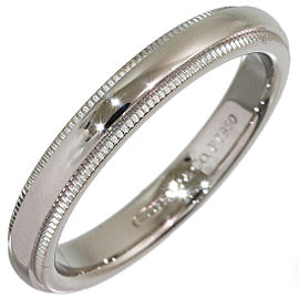 Tiffany & Co. Milgrain Platinum Wedding Ring Size 6