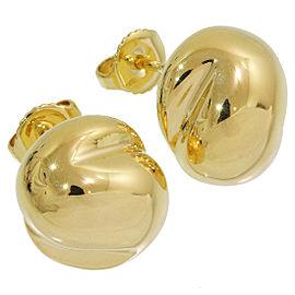 Tiffany & Co. 18K Yellow Gold Bean Earrings