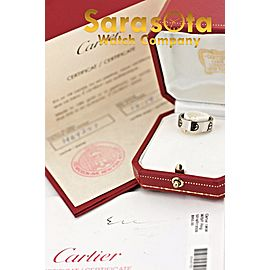 Cartier LOVE 18k White Gold HO4257 1996 51 Wedding Ring Size 5.5