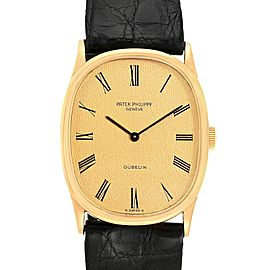 Patek Philippe Golden Ellipse 18k Yellow Gold Mens Watch 3846