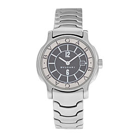 Lady Bulgari Bulgari Solotempo ST29S Stainless Steel Date Quartz Watch