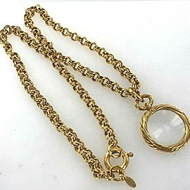 Chanel Magnifying Link Necklace Gold Tone