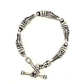 Kieselstein-Cord Alligator Sterling Silver Toggle Bracelet