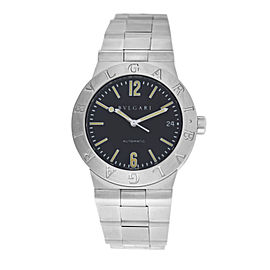 Mens Bulgari Bulgari Diagono LC35S Steel Date 36MM Automatic Watch