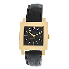 Unisex Bulgari Bulgari Quadrato SQ 29 GL AUTO 18K Gold 29MM Watch