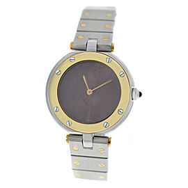 Cartier Santos Ronde 27MM 18K Yellow Gold Quartz Watch