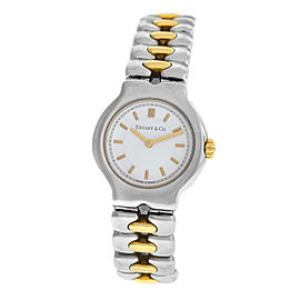 Ladies Tiffany & Co. Tesoro L0112 Steel Gold 25MM Quartz Watch