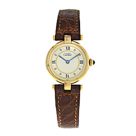 Ladies Cartier Must de Cartier 1851 Silver Gold Vermeil Quartz Watch