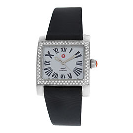 Ladies Michele MW2 Mini 71-7400 Steel MOP Diamond 28MM Quartz Watch