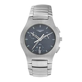 Men's Longines Opposition L3.618.4 Steel Chronograph Date 38MM Quartz Watch