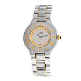 Ladies Cartier Must de Cartier 1330 Quartz Steel Gold 32MM Watch