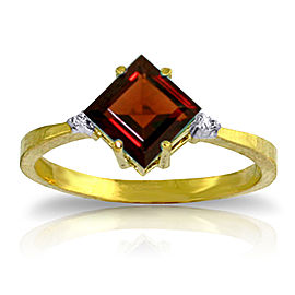 1.77 CTW 14K Solid Gold Immerse Yourself Garnet Diamond Ring