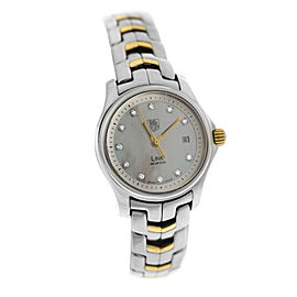 Ladies Tag Heuer Link WJF1353.BB0581 MOP Diamond Quartz 27MM Watch