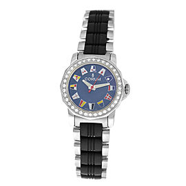 Ladies Corum Admirals Cup 039.440.47 Diamond MOP Steel 29MM Quartz Watch