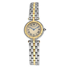 Ladies Cartier Panthere Vendome 1057920 One Row Gold Steel Quartz 24MM Watch