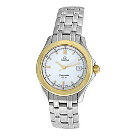 Unisex Omega Seamaster 196.1501 396.1501 120M Gold Steel Quartz 36MM Watch