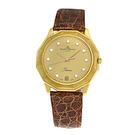 Unisex Baume & Mercier Riviera 87012.1 18K Gold Diamond Quartz 34MM Watch