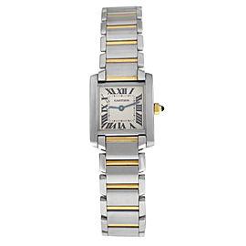 Ladies' Cartier Tank Francaise 2300 Steel 18K Yellow Gold Quartz 20MM Watch