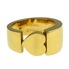 New Piaget 18K Yellow Gold 15 grams Size 6.25 Heart Ring