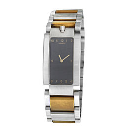 Unisex Movado Elliptica 84 C1 1481 Stainless Steel Gold Quartz 24MM Watch