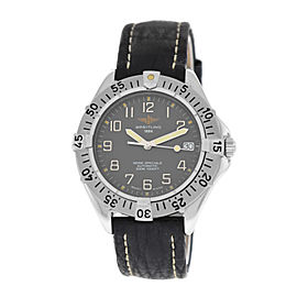 Authentic Mens Breitling Colt A17035 Stainless Steel Date Automatic 38MM Watch