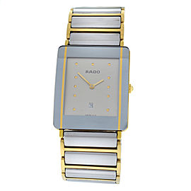 Unisex Rado Diastar 160.0282.3 Steel Gold 27MM Quartz Watch