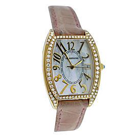 Ladies Tourneau 18K Rose Gold Diamond MOP Quartz 26MM Watch