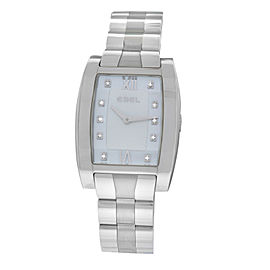 New Ladies Ebel Tarawa E9656J21 Steel Diamond MOP Quartz 28MM Watch