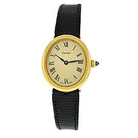 Ladies' Cartier 18K Yellow Gold Mechanical Hand Winding Oval 23MM Watch