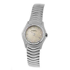 New Ladies Ebel 9003F14 Quartz Steel MOP Diamond 24MM $4,495 Watch